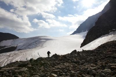 Колко бързо се топи ледник в Швеция?