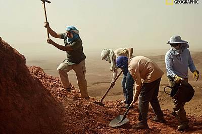 Мястото на разкопките, където палеонтологът Низар Ибрахим и екипът му намират вкаменелостите