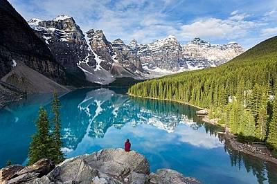 """Езеро Морейн, Канада.""""Комбинацията от невероятната красота на Канада и сбъдването на детската ми мечта превърна този к"""
