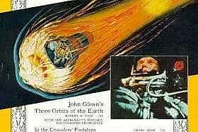Юни 1962 - Джон Глен обикаля ЗемятаFriendship 7 прекосява пространството върху корицата на