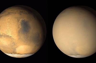 Мощна пясъчна буря промени повърхността на Марс