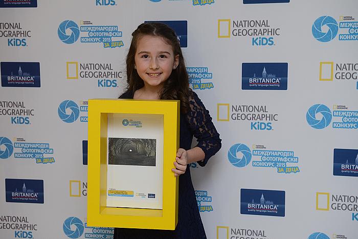"""Радостина Тодорова, на 8 г., победител в категория """"Дръзки изследователи"""" на Международния фотографски конкурс на National Geographic за деца за..."""