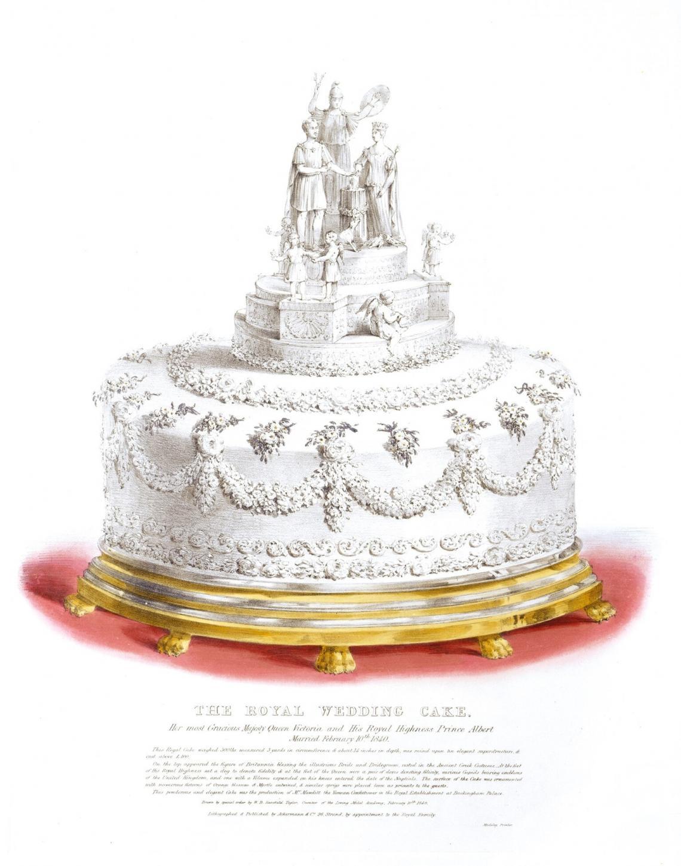 Литография на сватбената торта на кралица Виктория и принц Албърт