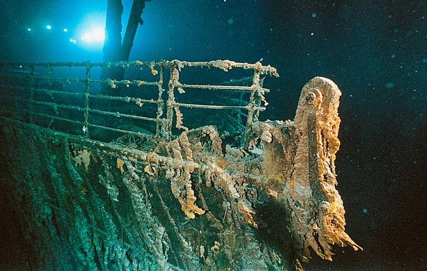 """Ръждясалият """"Титаник"""" се намира на дълбочина от 3800 метра Снимка: Emory Kristof, Nat Geo Image Collection"""
