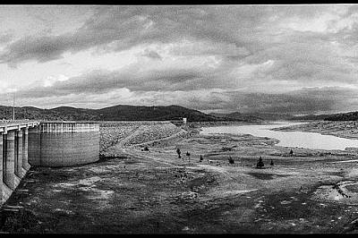Езерото Уайангала в Ню Саут Уелс, Австралия, по време на историческата суша през 2008 г.