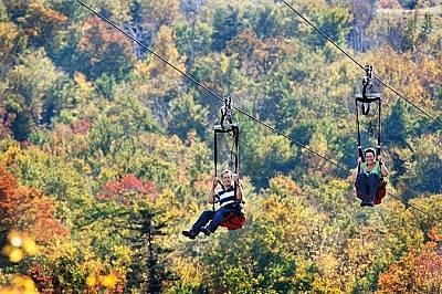 Спускане по ZipRider в Wildcat MountainСпускане по ZipRider в Wildcat Mountain в националния парк Уайт Маунтин. За разлика от класическия тролей, къде...